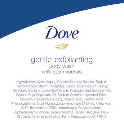 Dove Body Wash Gentle Exfoliating With Sea Minerals