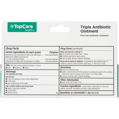 TopCare Triple Antibiotic Ointment, Original Strength