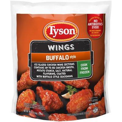 Tyson Uncooked Buffalo Style Chicken Wings, Frozen