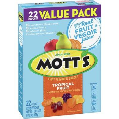 Mott's Fruit Flavored Snacks Tropical Fruit Value