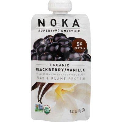 Noka Organic Superfood Fruit Smoothie Pouch, Blackberry Vanilla