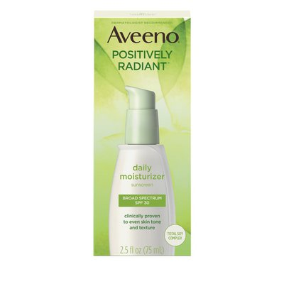 Aveeno Positively Radiant Daily Moisturizer With Broad Spectrum SPF 30