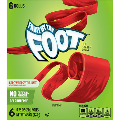 Fruit by the Foot Fruit Snacks, Strawberry, 6 Count