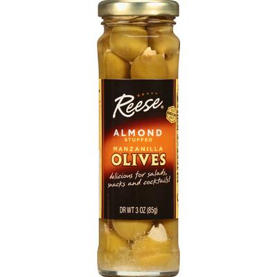 Reese Olives, Manzanilla, Almond Stuffed