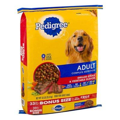 Pedigree Adult Complete Nutrition Grilled Steak & Vegetable Flavor Dog Food