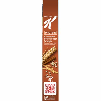Kellogg's Special K Protein Breakfast Cereal, 10 Vitamins and Minerals, Protein Snacks, Brown Sugar Crunch