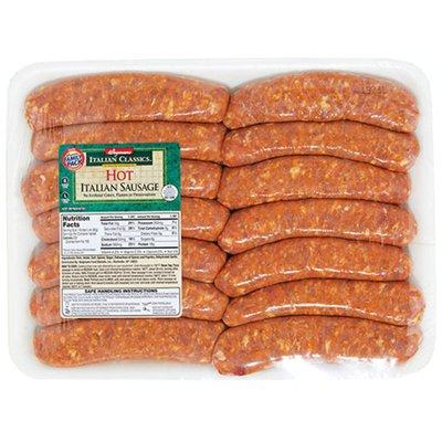 Wegmans Italian Classics All Pork Hot Italian Sausage Link, FAMILY PACK