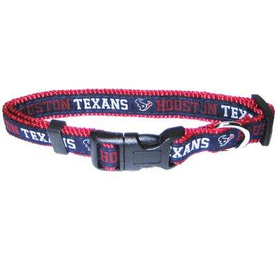 Pets First Medium Houston Texans Pet Collar