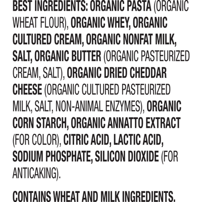 Annie's Organic Pasta & Mild Cheddar Macaroni and Cheese, Mac & Cheese