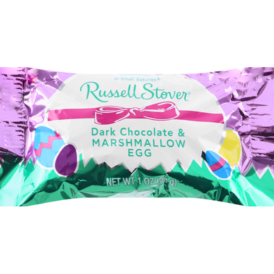 Russell Stover Marshmallow Egg, Dark Chocolate