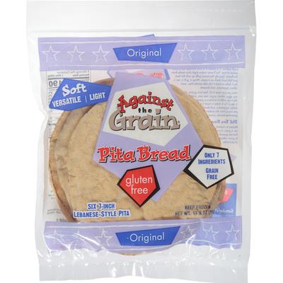 Against The Grain Gourmet Pita Bread, Original, 7-Inch
