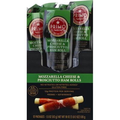 Primo Taglio Cheese & Ham, Mozzarella, Prosciutto, Roll