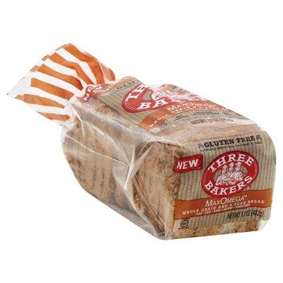 Three Bakers Bread, MaxOmega, Whole Grain & 5 Seed