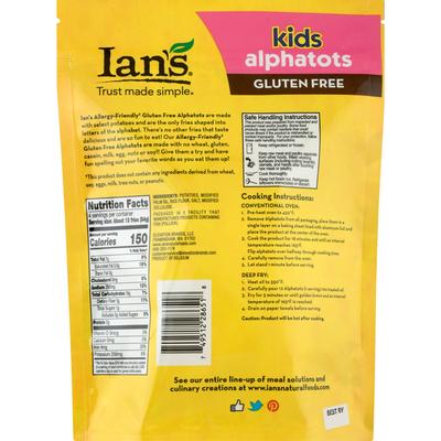 Ian's Alphatots, Gluten Free