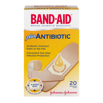Band-Aid Brand Adhesive Bandages Infection Defense With Neosporin, Assorted Sizes