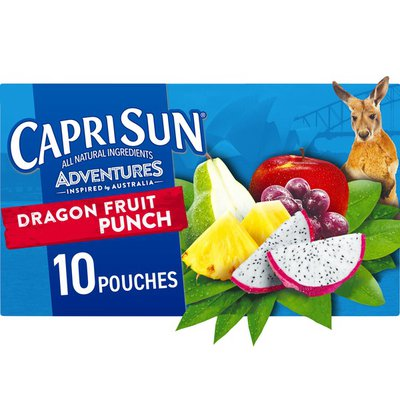 Capri Sun Dragonfruit Punch Naturally Flavored Juice Drink Blend