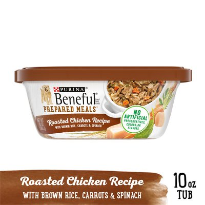 Purina Beneful High Protein, Wet Dog Food With Gravy, Prepared Meals Roasted Chicken Recipe