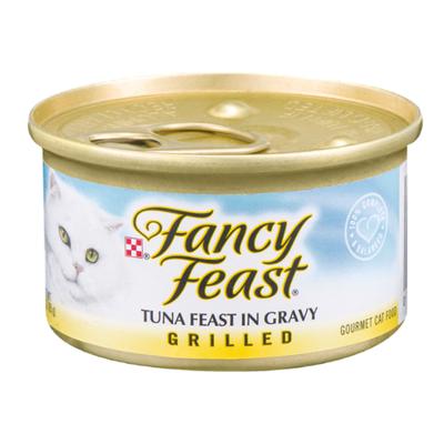 Purely Fancy Feast Gravy Wet Cat Food, Grilled Tuna Feast