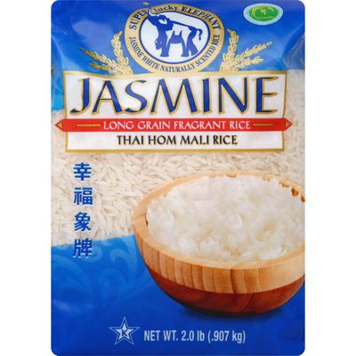 Super Lucky Elephant White Rice, Fragrant, Long Grain, Jasmine