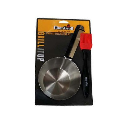 Char-Broil Basting Brush Stainless Bowl Grilling Grill Tool Set
