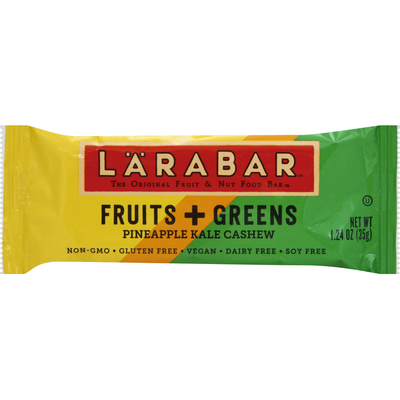 Larabar Food Bar, Fruits + Greens, Pineapple, Kale, Cashew