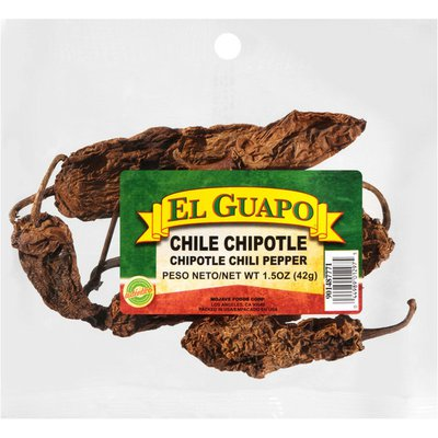 El Guapo®  Whole Chipotle Chili Pepper Pods (Chile Chipotle Entero)