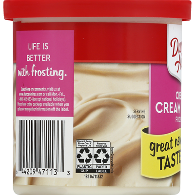 Duncan Hines Frosting, Cream Cheese, Creamy