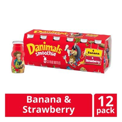 Danimals Strawberry Explosion & Banana Split Variety Pack Smoothies