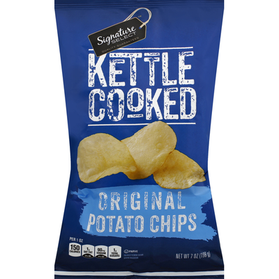 Signature Select Potato Chips, Kettle Cooked, Original