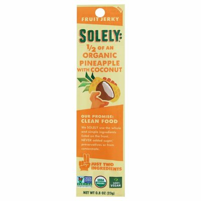 Solely Fruit Jerky, Organic, Pineapple with Coconut