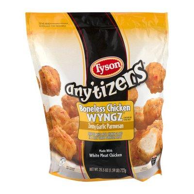 Tyson Anytizers Zesty Garlic Parmesan Boneless Chicken Bites, Frozen