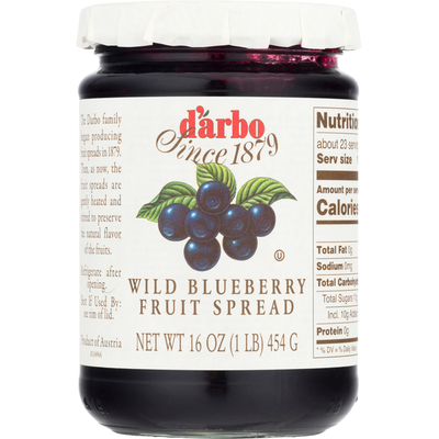 D'arbo Fruit Spread, Wild Blueberry