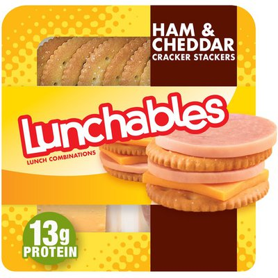 Lunchables Ham & Cheddar Cheese with Crackers Snack Kit