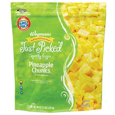Wegmans Food You Feel Good About Just Picked and Quickly Frozen Pineapple Chunks, FAMILY PACK