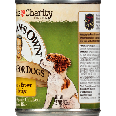 Newman's Own Dinner for Dogs, Chicken & Brown Rice Recipe