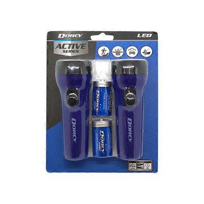 Dorcy 41-2594 Blue LED Flashlights Combo
