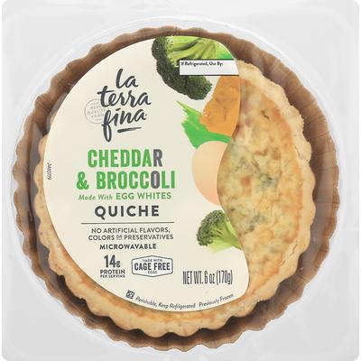 La Terra Fina Quiche, Cheddar & Broccoli