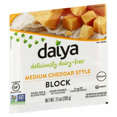 Daiya Dairy Free Medium Cheddar Style Block