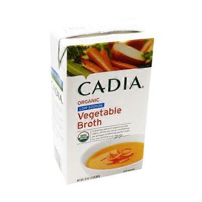 CADIA Organic Low Sodium Vegetable Broth