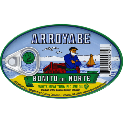 Arroyabe White Meat Tuna, in Olive Oil