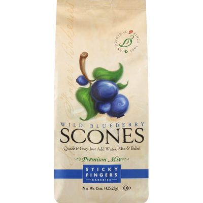 Sticky Fingers Bakeries Scones Mix, Premium, Wild Blueberry