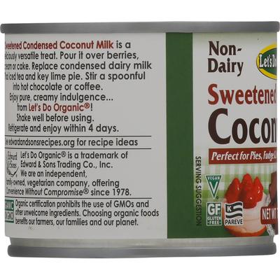 Let's Do Organic Coconut Milk, Sweetened Condensed