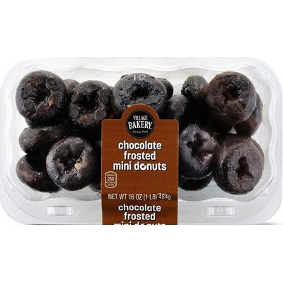 Bake Shop Mini Chocolate Frosted Donuts
