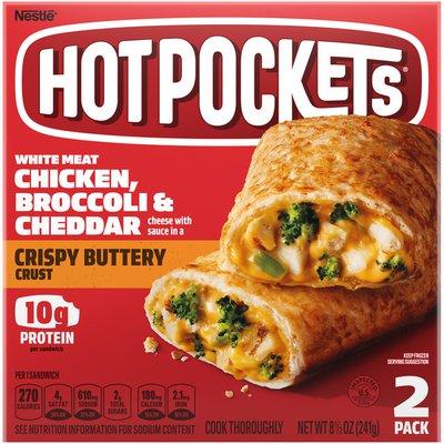 Hot Pockets Chicken Broccoli & Cheddar Crispy Buttery Crust Frozen Snacks