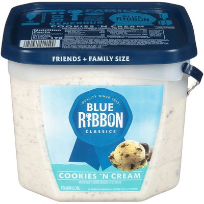 Blue Ribbon Classics Cookies and Cream Frozen Dessert Pail
