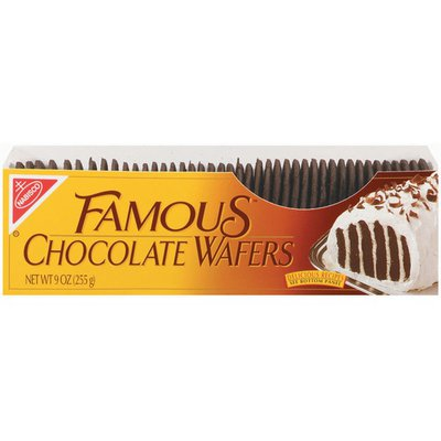Nabisco Famous Chocolate Wafers Chocolate Cookies