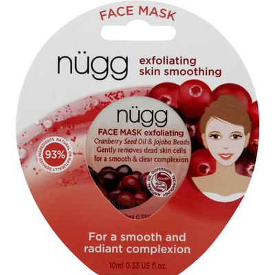 Nugg Face Mask, Exfoliating, Cranberry Seed Oil & Jojoba Beads