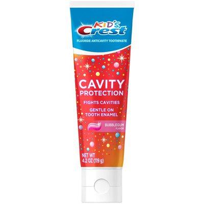 Crest Cavity Protection Bubblegum Flavor Toothpaste Gel Formula