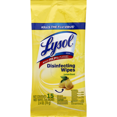 Lysol Disinfecting Wipes, Lemon Scent