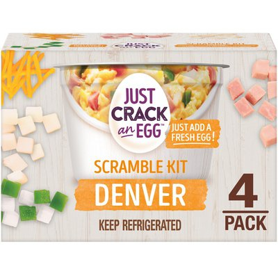 Just Crack An Egg Denver Scramble Breakfast Bowl Kit with Smoked Ham, Cheddar Cheese, Potatoes, Green Peppers & Onions